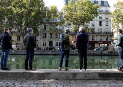 Street fishing Paris