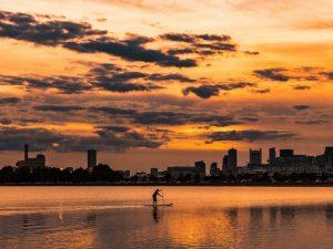 Séminaire entreprise paddle sur Seine