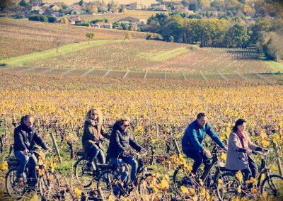 Balade en Vélo Electrique dans les Vignes en Bourgogne.